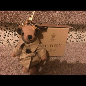 Burberry Thomas bear with trench coat.